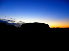sunrise Uluru (Ayers rock)